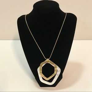 GORGEOUS Silver and Gold Statement Necklace